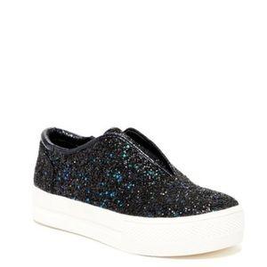 Glitter Platform Slip On Sneakers